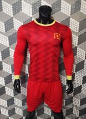 Bộ quần áo bóng đá Việt Nam tay dài màu đỏ -đồ đá banh mới nhất năm 2019-2020