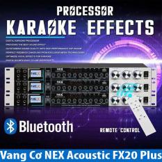 [ Vang Cơ Siêu Hot ] Chuyên Vang Cơ Nex FX20 Plus Phiên Bản 2021 (có điều khiển) Xử Lý Tín Hiệu Âm Thanh Chuyên Nghiệp . Vang Cơ NEX Acoustic FX20 Plus, Vang Cơ Bluetooth Chống Hú NEX Acoustic FX20 Plus Hát Karaoke Chuyên Nghiệp Sale Sốc