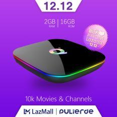 Q plus tivi box android 9.0 2GB/4GB RAM 16GB/32GB/64GB ROM Allwinner H6 6K Smart tv box 2.4GHz wifi