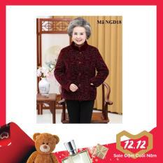 Áo khoác nhung lót lông cho người già, người lớn tuổi NGD18