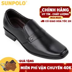 Giày nam, Giày công sở da bò SUNPOLO SPH120RN (Đen)
