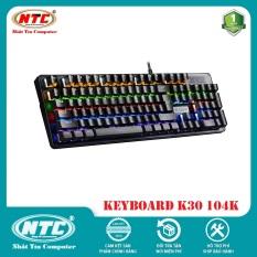 Bàn Phím Cơ Game Thủ NTC K28 87K / K30 104K – Đèn Led nhiều chế độ (Đen) – 2 Phân Loại tùy chọn