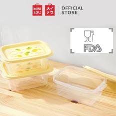 Hộp nhựa đựng thực phẩm Fruit Series 3 cái Miniso – Hàng chính hãng