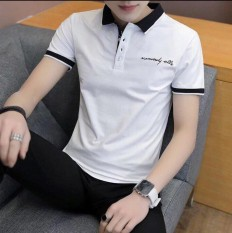 [Freeship] Áo thun nam tay ngắn có cổ, áo thun nam POLO cao cấp – Chất Vải Cotton dày dặn, mềm mịn, không xù lông 2 màu ( trắng xám ) Menshopps MS013