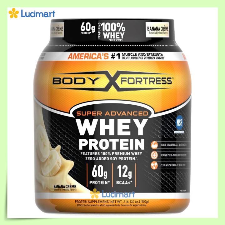 Bột đạm Body Fortress Super Advanced Whey Protein, 907g, nhiều hương vị [Hàng Mỹ]