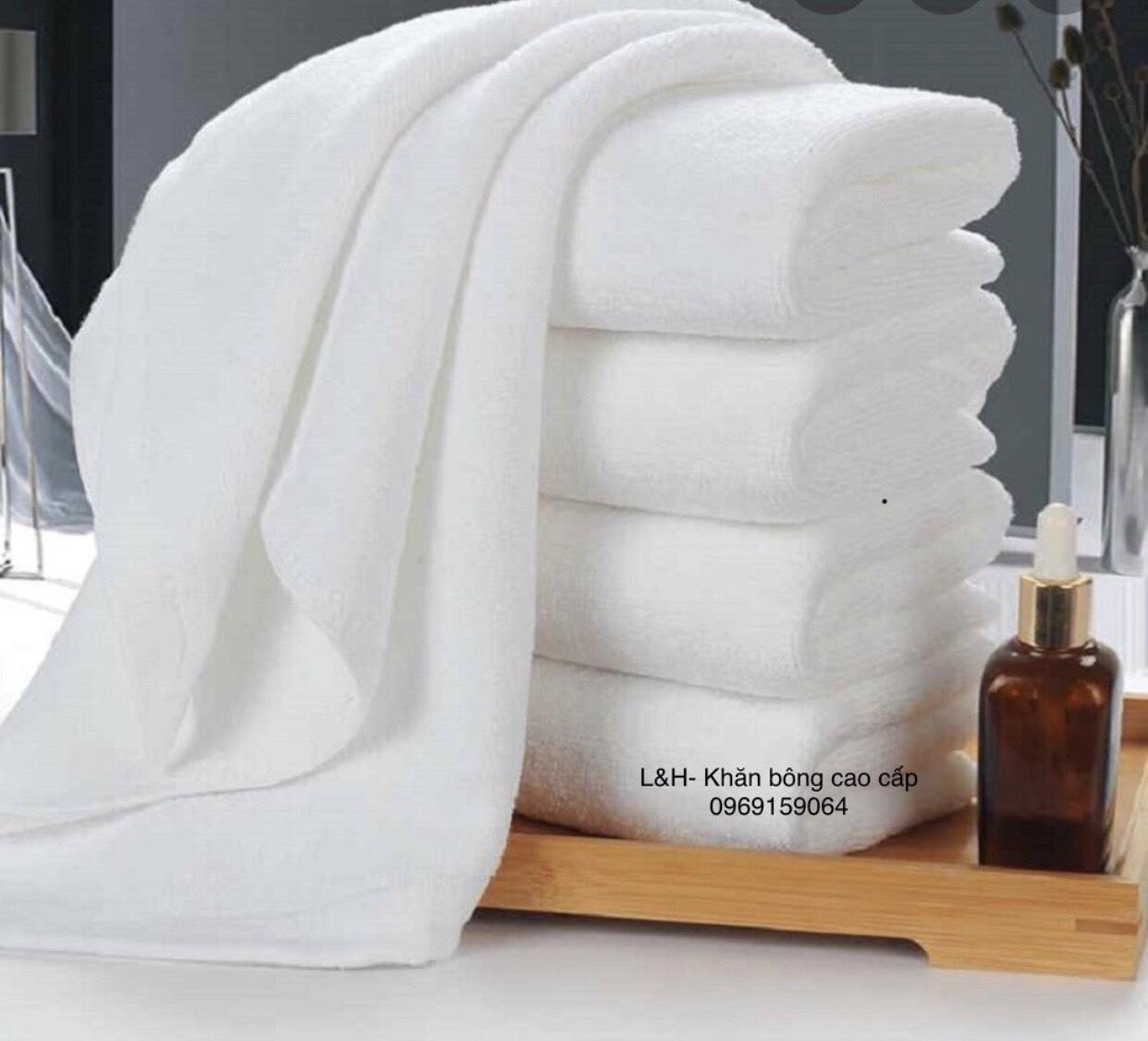 Khăn tắm trắng khách sạn, 60x130cm, xuất dư,sợi CD, nặng 250g