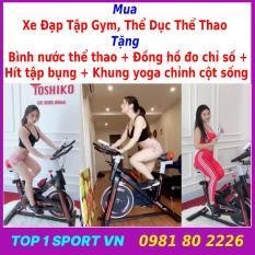 Xe đạp tập thể dục | xe đạp tập gym | xe đạp tập thể thao Toshiko X8 chính hãng – tặng kèm Bóng bàn phản xạ cao cấp + bình nước + đồ hồ đo nhịp tim – bảo hành 36 tháng
