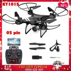 [BỘ 02 PIN] Flycam KY101S BAY 18 PHÚT bản nâng cấp của Flycam KY101 máy ảnh camera 2.0Mpa. HD 720P truyền trực tiếp về điện thoại, Có chế độ tự về bằng 1 nút bấm trên tay điều khiển. Flycam giá rẻ, Flycam pin trâu, Flycam camera HD