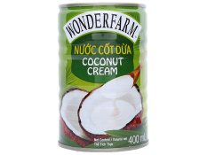 Nước Cốt Dừa Wonder Farm Coconut Cream Lon 400ml
