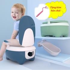 Nhà vệ sinh bô bồn tiểu bồn cầu chống trượt em bé ghế tựa lưng