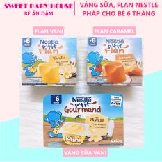 [HCM]Váng sữa Nestle Pháp 6*60g vị vani cho bé 6 tháng. Date 1/2022 – Sweet Baby House