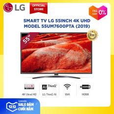 Smart TV LG 55inch 4K UHD – Model 55UM7600PTA (2019) độ phân giải 3840×2160 hệ điều hành webOS 4.0 trí tuệ nhân tạo AI – Hãng phân phối chính thức