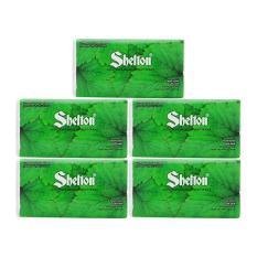 Combo 5 gói khăn giấy Soft Pack 2 lớp Shelton lá cây 19 x 20 cm (250 tờ)