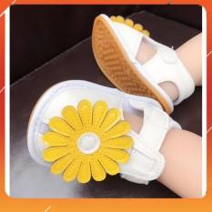 [Hàng Cao Cấp] Giày Tập Đi Em Bé,Dép Tập Đi Đính Hoa Vàng Xinh Xắn Cho Bé Gái 0-18 tháng