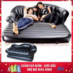 Ghế giường hơi 2 trong 1 cao cấp, đệm hơi kiêm nệm hơi đa năng khác biệt ghế hơi intex TẶNG KÈM BƠM (MÀU ĐEN SANG TRỌNG) – MBHANG90