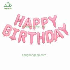 Bóng trang trí Happy Birthday balloons – Diệp Linh chất liệu tráng nhôm cao cấp, an toàn cho trẻ em