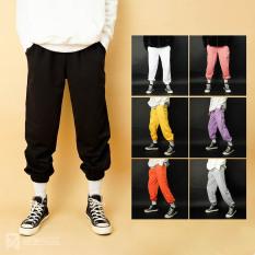 Quần ống rộng bo gấu unisex N7 jogger dáng thể thao suông nam nữ nỉ cao cấp da cá bigsize thu đông basic pants nhiều màu