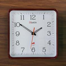 Đồng hồ treo tường vuông nâu – Size 30cm – Đồng hồ treo tường cao cấp