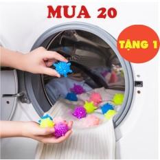 10 Quả bóng giặt gai tẩy sạch đồ quần áo làm phẳng chống nhăn – Cầu gai giặt đồ