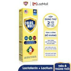 [HỘP DÙNG THỬ] Sữa bột tăng sức đề kháng Mama Sữa Non Colos Multi A1 hộp 2 gói x 14g