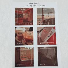Set Sticker chủ đề Instagram Frames trang trí Bullet Journal / Planner – Case Sover
