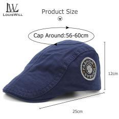 LouisWill Men Berets Hats Women Berets Caps Outdoor Sunscreen Cap Fashion Embroidery Golf Flat Caps Casual Hats Unisex Hip Hop Berets for Men Women