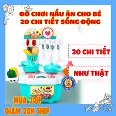 Đồ chơi nấu ăn cho bé gái 20 món vật dụng và tủ bếp bằng nhựa an toàn DC0015 [có video] – Đồ khuyến mãi giá tốt