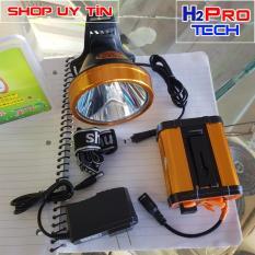 Đèn pin đội đầu siêu sáng NO-9806 200W, pin khủng 16000Mah kiêm pin sạc dự phòng, sáng trắng hoặc vàng