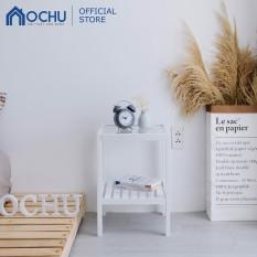 Kệ Đầu Giường OCHU Khung Gỗ Mặt Kính Cường Lực – Glass Shelf – White