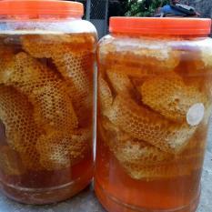 1kg Mật ong rừng nguyên sáp hảo hạng