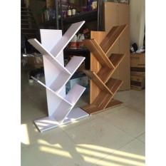 kệ sách gỗ hình xương cá