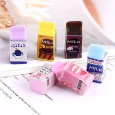 [HCM]Mô hình hộp sữa trái cây phụ kiện trang trí nhà búp bê tiểu cảnh charm slime [1 cái ]