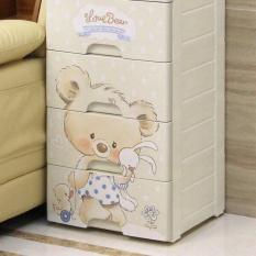 tủ nhựa gấu 5 tầng cho mẹ & bé