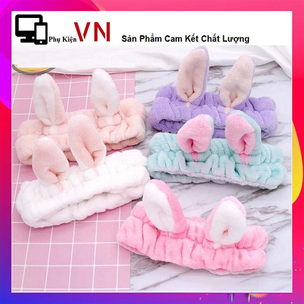 ⚡ PKVN – Băng Đô Turban Tai Thỏ 3D Siêu Cưng – Băng Đô Tai Thỏ 3D Vải Nhung – Dày Chắc Chắn Mềm Mịn – Siêu Bền ⚡