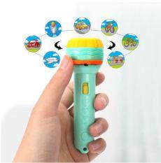 Đồ chơi Đèn pin chiếu hình cho bé 3 tấm chiếu 24 hình, đèn pin kể chuyện cho bé chất liệu nhựa ABS an toàn – Sochu Kids