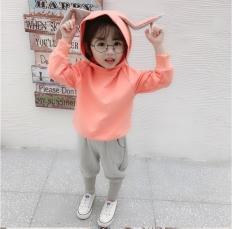 Bộ nỉ thu đông tai thỏ cực yêu và ấm áp cho bé gái, bộ đồ bé gái, bộ thu đông bé gái