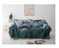 Thảm phủ Sofa, Decor Phòng khách, Phòng ngủ họa tiết Đại Dương