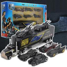 Bộ đồ chơi trẻ em xe mô hình bằng Hợp Kim gồm 6 xe con + 1 xe tải lớn Người Dơi