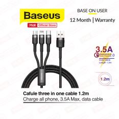 Cáp sạc 3 trong 1 Baseus Cafule USB to Lightning – TypeC – Micro Cáp sạc 3 đầu đa năng cho nhiều dòng điện thoại