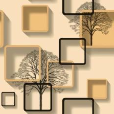 Cuộn 5m decal giấy dán tường ô vuông cây nhiều màu khổ 45cm keo sẵn. Chất liệu PVC, không thấm nước, bền màu, không độc hại.