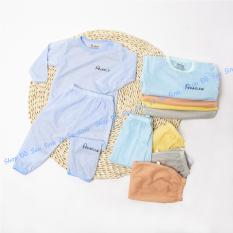 Bộ dài tay Unchi vải sợi tre cao cấp cho bé trai và bé gái sơ sinh 3-15kg
