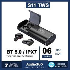 Tai nghe Bluetooth 5.0 S11 TWS Kiêm Sạc Dự Phòng 4800mAh – Chống nước IPX7 – Nghe nhạc lên đến 90h