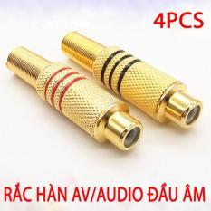 Bộ 4 Rắc hàn AUDIO/AV Đầu Âm Lò So