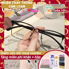 Kính cận nam nữ Lily Eyewear 770 mắt kính gọng vuông có độ kính Hàn Quốc gọng kim loại mắt trong suốt giả cận kính thời trang
