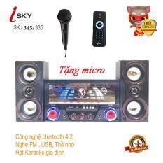 Dàn âm thanh tại nhà – loa vi tính hát karaoke có kết nối Bluetooth USB Isky – SK345/SK335U siêu bass hai kênh 2.1 Tặng kèm mic hát -Loa giá rẻ-loa chất lượng- INZEC