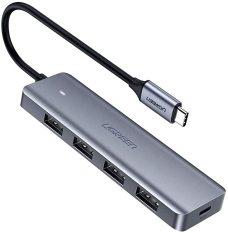 Bộ chuyển đổi Hub USB Type-C sang 4 cổng USB 3.0 hỗ trợ cổng nguồn Micro USB 5V UGREEN CM164 70336