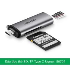 Đầu đọc thẻ SD/TF cắm điện thoại cổng USB Type C Ugreen 50704 Bảo hành 18 tháng