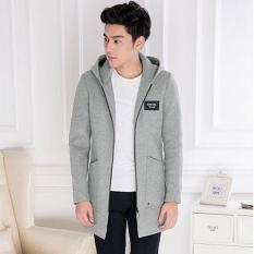 Áo Khoác Nam Măng Tô Vải Mềm Mịn Hàn Quốc Thời Trang 2 Màu Xanh Đen Và Xám – TTN00150
