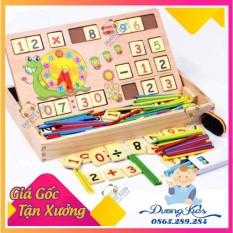 (GỖ TỰ NHIÊN THẬT) Sỉ lẻ Bộ bảng gỗ que tính và chữ số cho bé vừa học vừa chơi HÀNG CAO CẤP