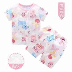 Bộ quần áo cotton giấy tay ngắn cho bé trai và bé gái từ 0 đến 3 tuổi hàng Quảng Châu( Nhiều mẫu ngẫu nhiên)